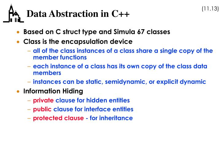 Data Abstraction in C++