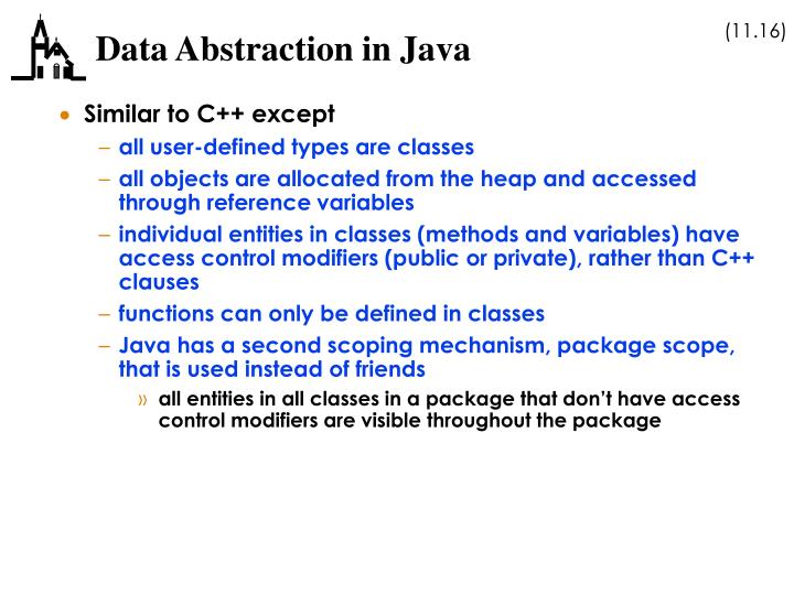 Data Abstraction in Java