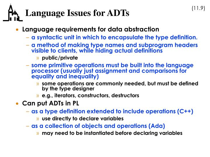 Language Issues for ADTs