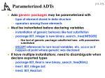 parameterized adts