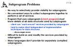 subprogram problems