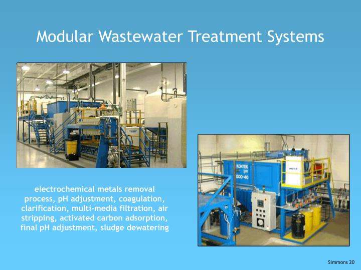Modular Wastewater Treatment Systems