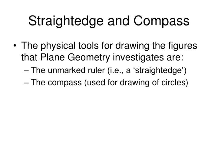 Straightedge and compass