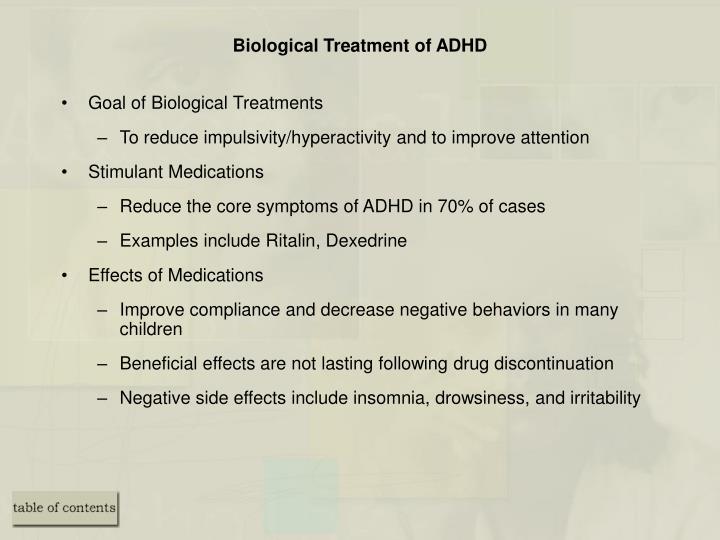 Biological Treatment of ADHD