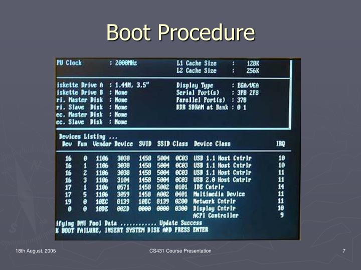 Boot Procedure