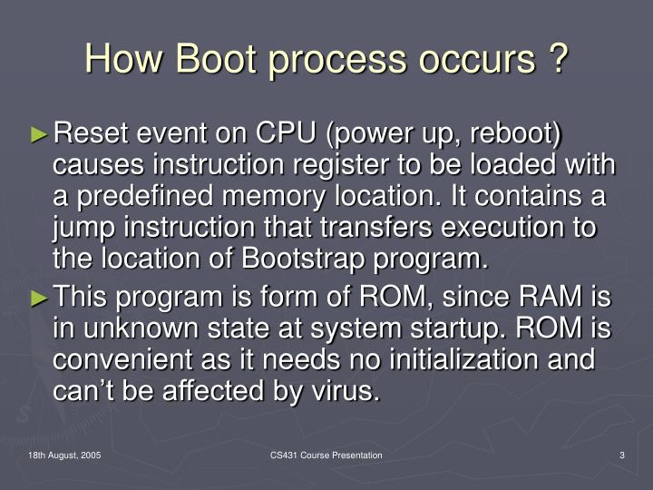 How Boot process occurs ?