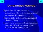 contaminated materials