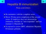 hepatitis b immunization non converters