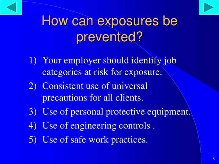 How can exposures be prevented?