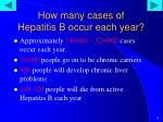 how many cases of hepatitis b occur each year