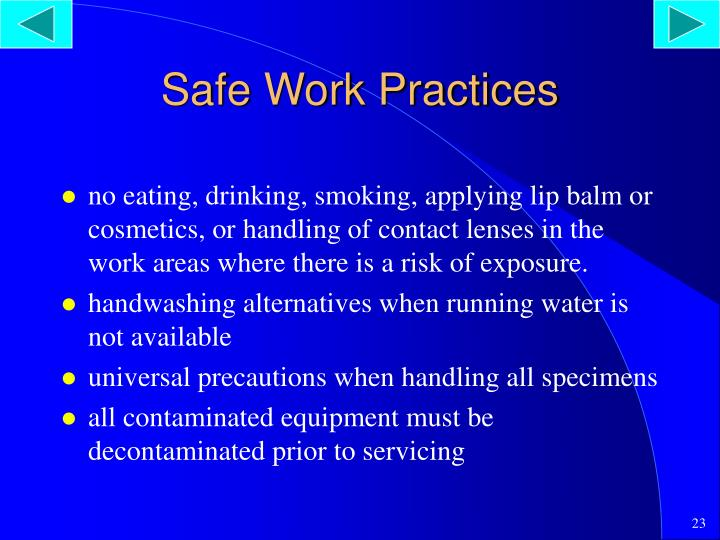 Safe Work Practices