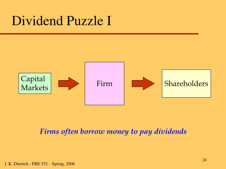 Dividend Puzzle I