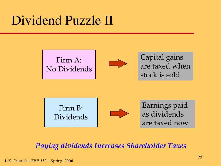 Dividend Puzzle II