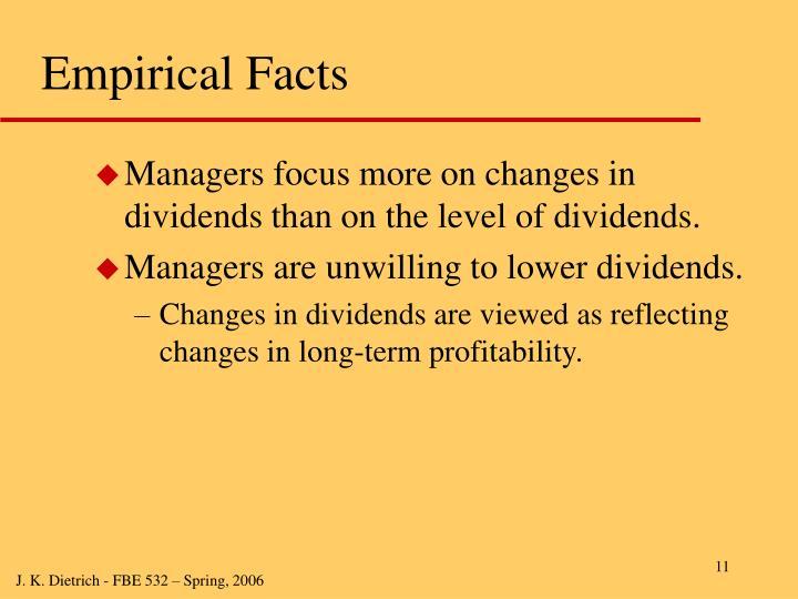Empirical Facts