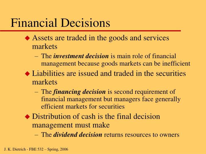 Financial Decisions
