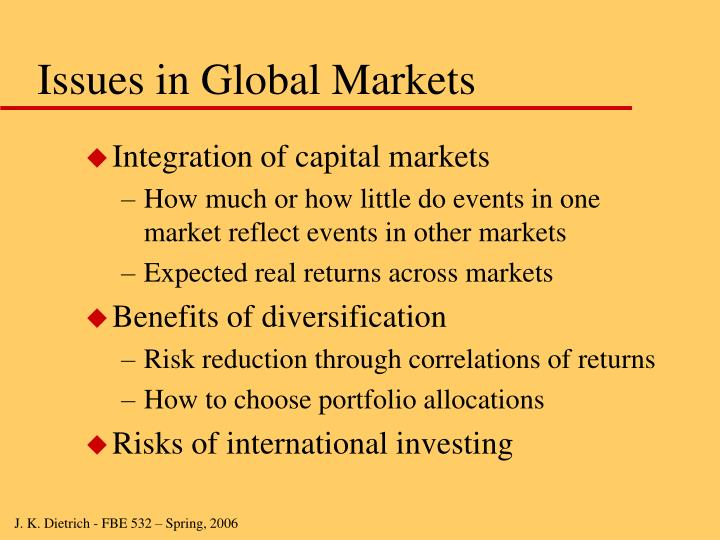 Issues in Global Markets
