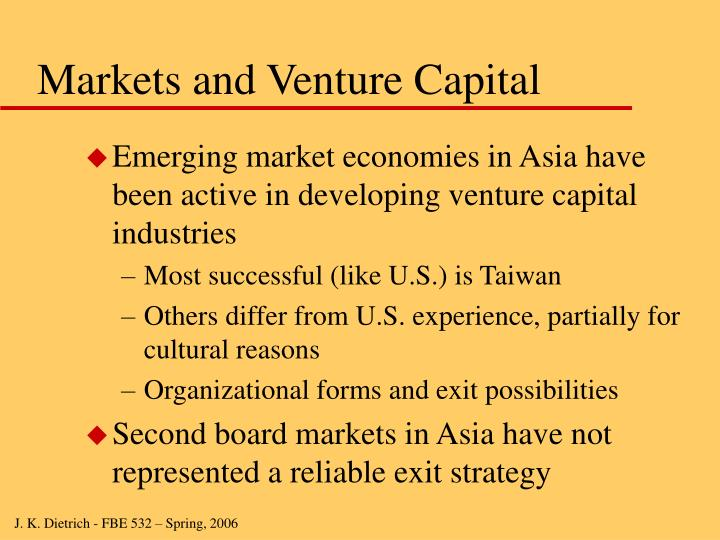 Markets and Venture Capital
