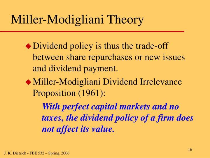 Miller-Modigliani Theory