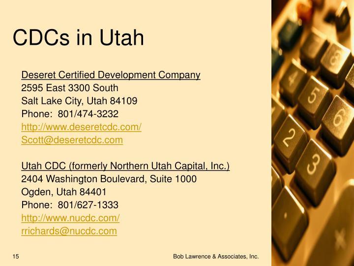 CDCs in Utah