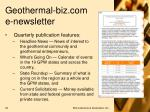 geothermal biz com e newsletter