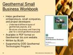 geothermal small business workbook