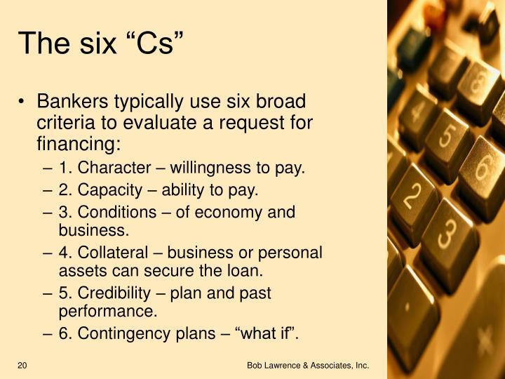"The six ""Cs"""
