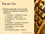 the six cs