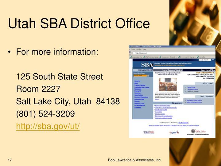 Utah SBA District Office