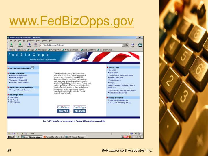 www.FedBizOpps.gov
