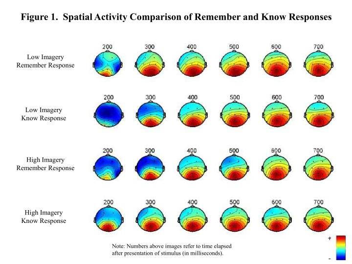 Figure 1.  Spatial Activity Comparison of Remember and Know Responses