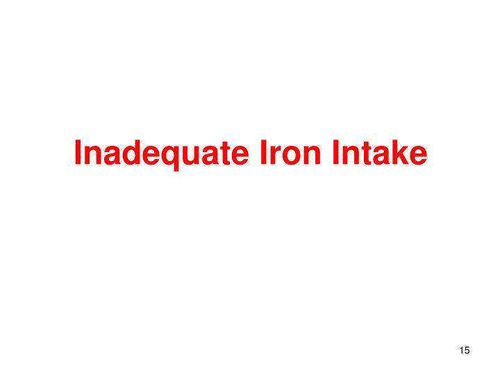 Inadequate Iron Intake