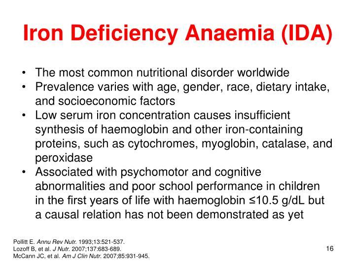Iron Deficiency Anaemia (IDA)
