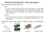 elements of mechatronics electromechanical