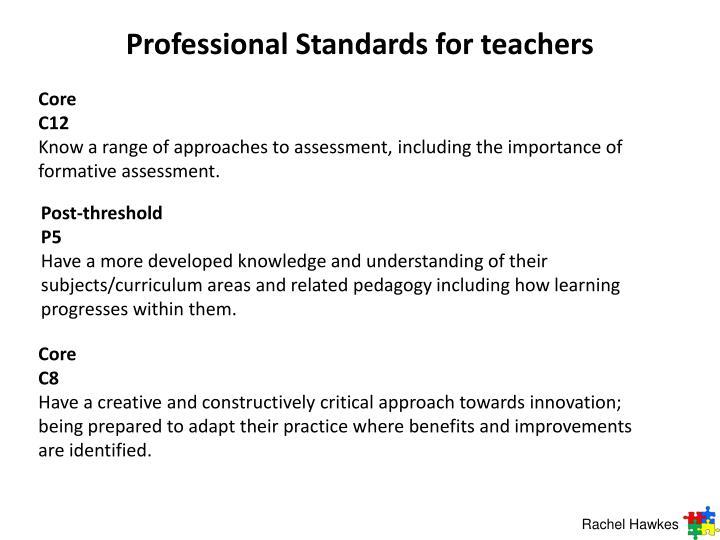 Professional Standards for teachers