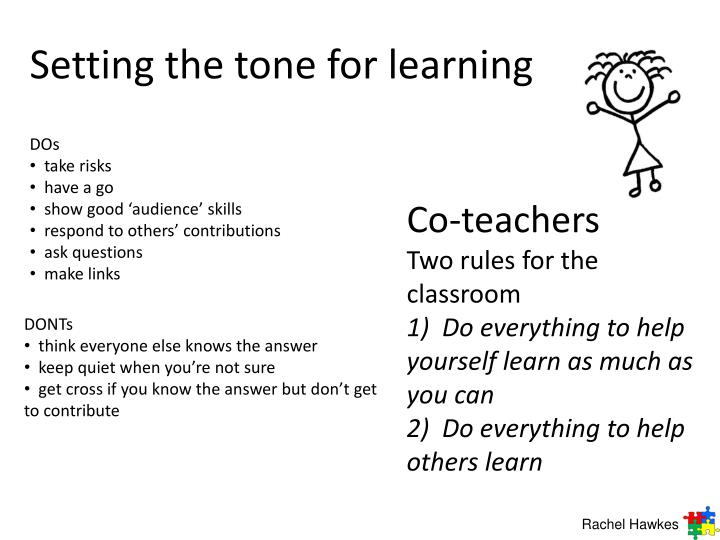 Setting the tone for learning