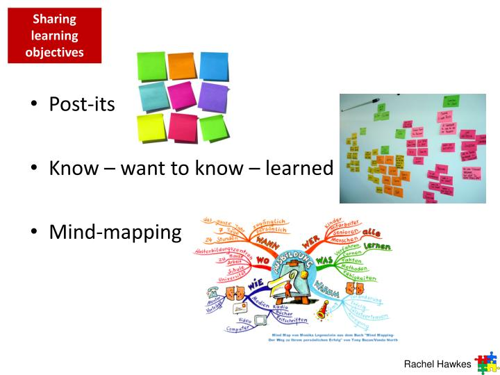 Sharing learning objectives