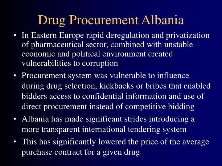 Drug Procurement Albania
