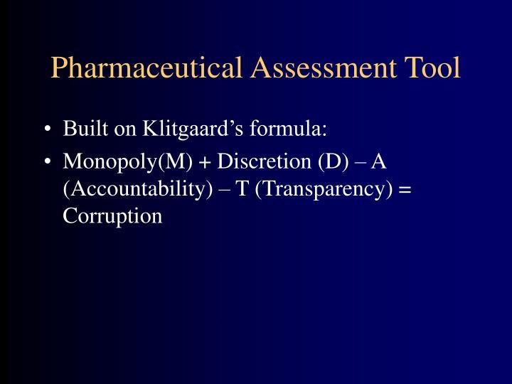 Pharmaceutical Assessment Tool