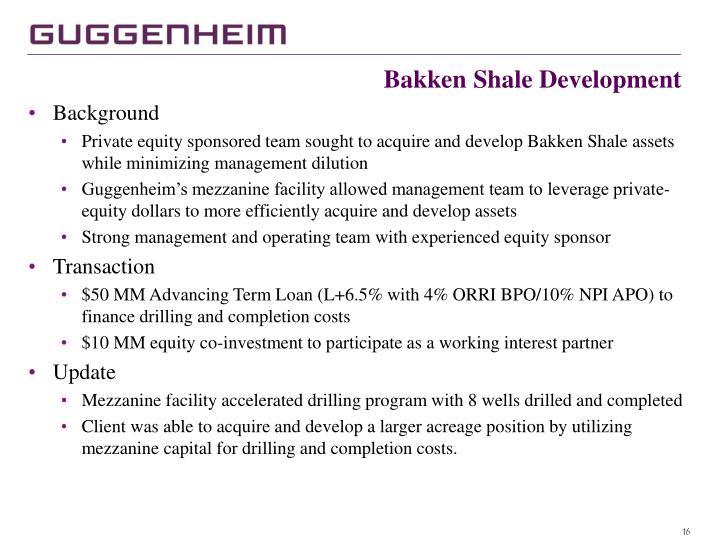 Bakken Shale Development