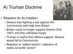 a truman doctrine