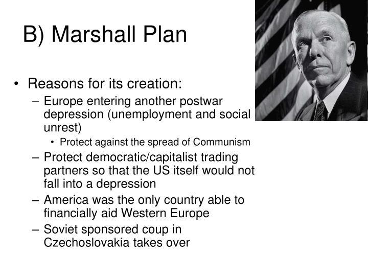 B) Marshall Plan