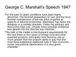 george c marshall s speech 1947