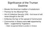 significance of the truman doctrine