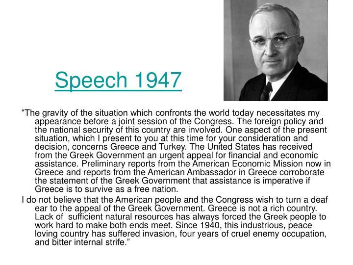 Speech 1947