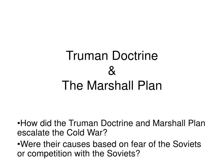 Truman doctrine the marshall plan