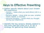 keys to effective prewriting1