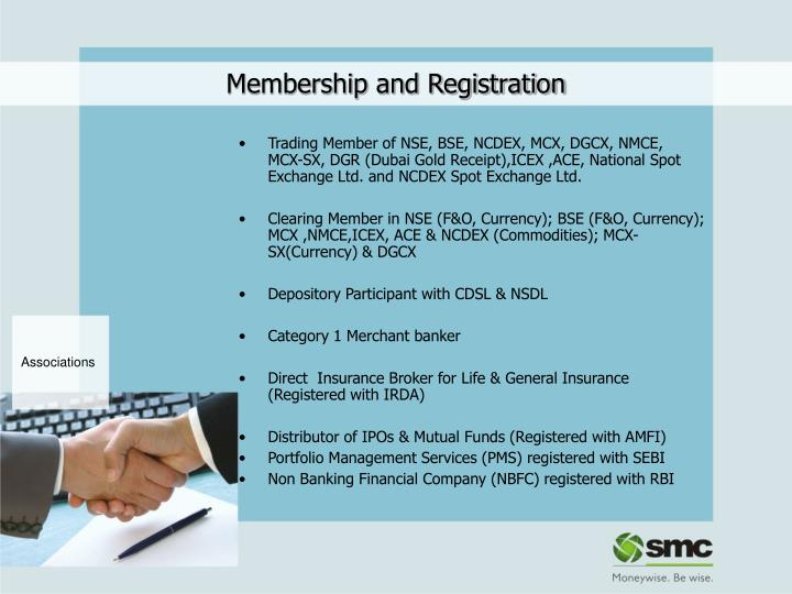 Membership and Registration