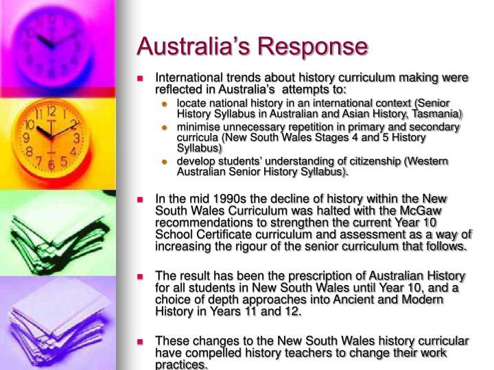 Australia's Response