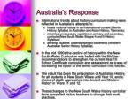 australia s response