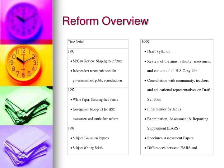 Reform Overview